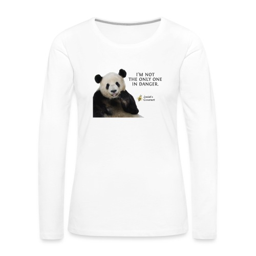Endangered Pandas - Josiah's Covenant - Women's Premium Slim Fit Long Sleeve T-Shirt