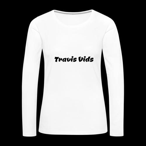 White shirt - Women's Premium Slim Fit Long Sleeve T-Shirt