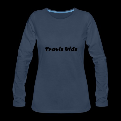 White shirt - Women's Premium Long Sleeve T-Shirt