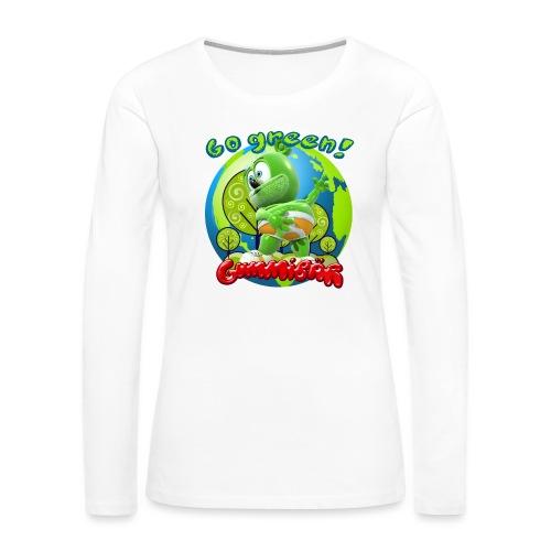 Gummibär Go Green Earth Day Earth - Women's Premium Long Sleeve T-Shirt