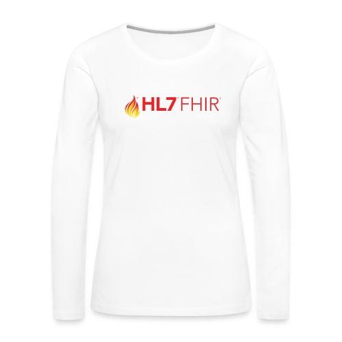 HL7 FHIR Logo - Women's Premium Slim Fit Long Sleeve T-Shirt