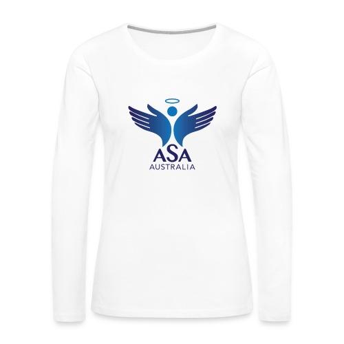 3459 Angelman Logo AUSTRALIA FA CMYK - Women's Premium Long Sleeve T-Shirt