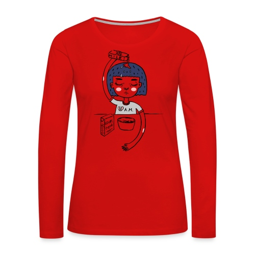 Milk and cereals in the morning - Women's Premium Long Sleeve T-Shirt