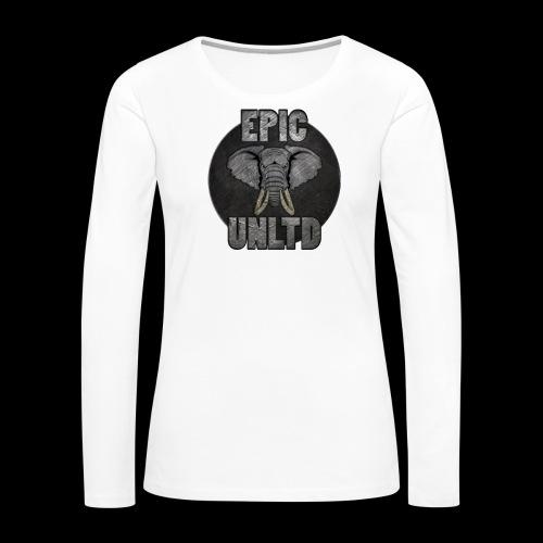 EPIC UNLTD Logo Shirt - Women's Premium Slim Fit Long Sleeve T-Shirt