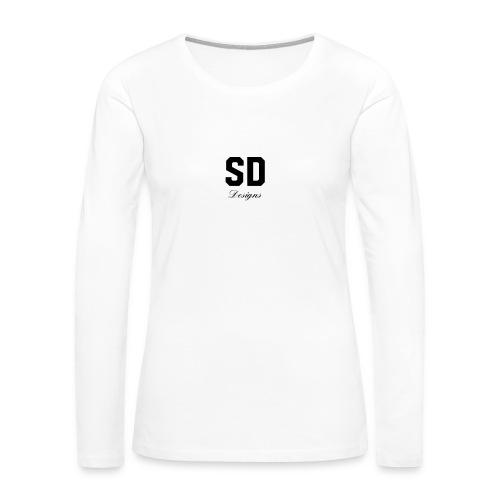 SD Designs blue, white, red/black merch - Women's Premium Long Sleeve T-Shirt