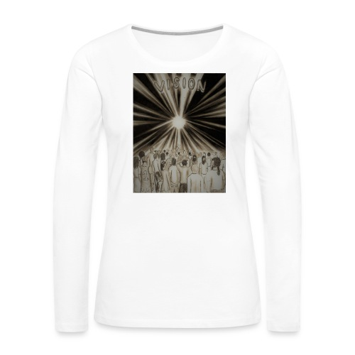 Black_and_White_Vision2 - Women's Premium Long Sleeve T-Shirt
