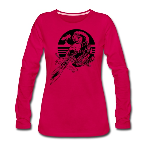 Tropical Parrot - Women's Premium Long Sleeve T-Shirt