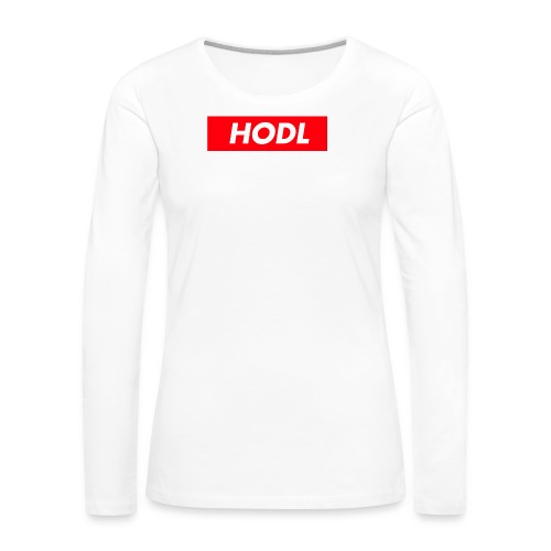 Hodl BoxLogo - Women's Premium Long Sleeve T-Shirt