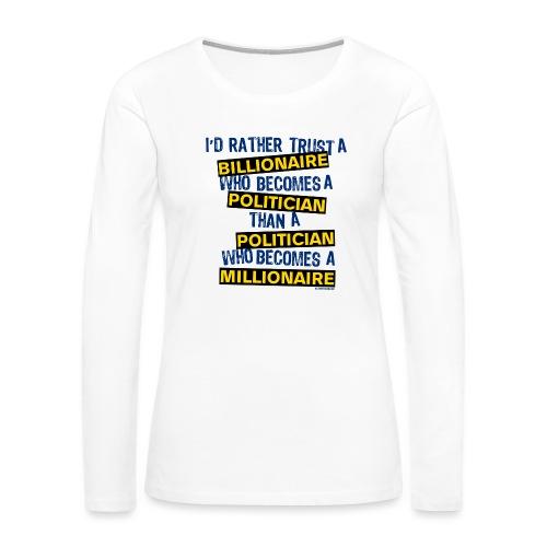 POLITICIAN - Women's Premium Long Sleeve T-Shirt