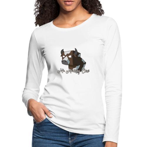 cow1 png - Women's Premium Slim Fit Long Sleeve T-Shirt