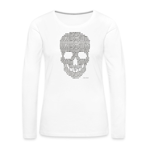 Hacker binary - Mens - Women's Premium Slim Fit Long Sleeve T-Shirt