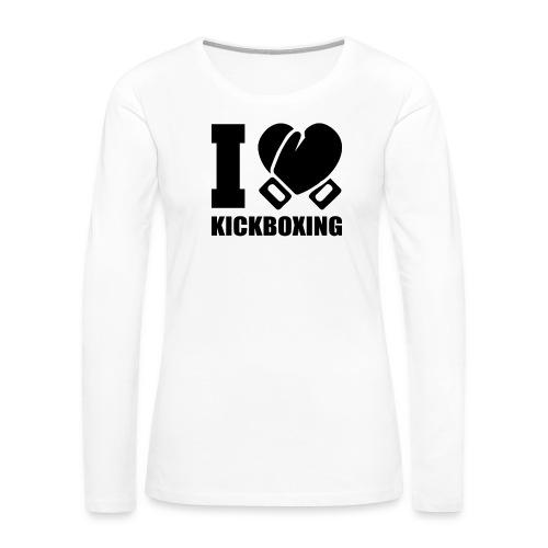 I Love Kickboxing - Women's Premium Long Sleeve T-Shirt
