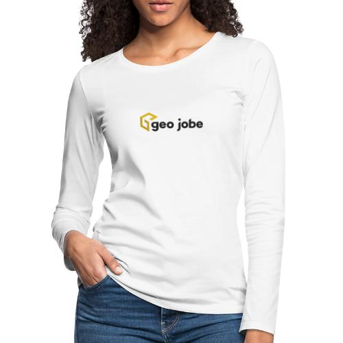 GEO Jobe Corp Logo - Black Text - Women's Premium Slim Fit Long Sleeve T-Shirt