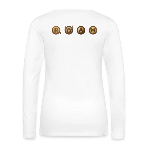 ROAM letters sepia - Women's Premium Long Sleeve T-Shirt