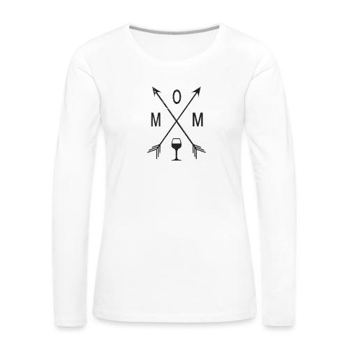 Mom Loves Wine (black ink) - Women's Premium Long Sleeve T-Shirt