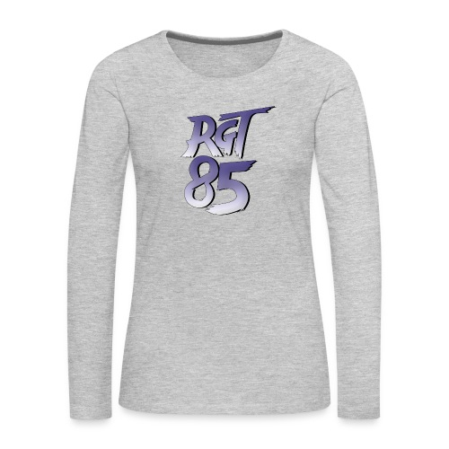 RGT 85 Logo - Women's Premium Slim Fit Long Sleeve T-Shirt