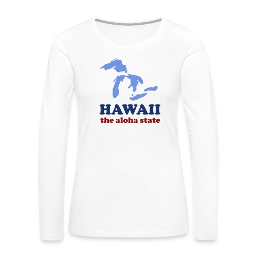 Geographically Impaired - Women's Premium Slim Fit Long Sleeve T-Shirt