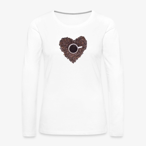 I Heart Coffee Black/White Mug - Women's Premium Long Sleeve T-Shirt