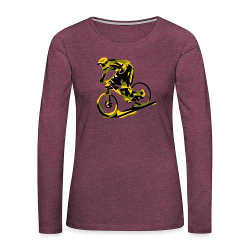 DH Freak - Mountain Bike Hoodie - Women's Premium Slim Fit Long Sleeve T-Shirt