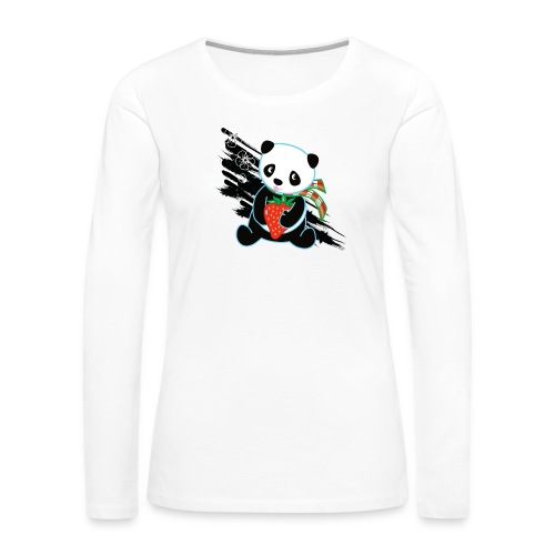 Cute Kawaii Panda T-shirt by Banzai Chicks - Women's Premium Long Sleeve T-Shirt