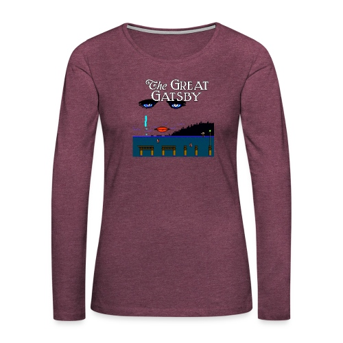 Great Gatsby Game Tri-blend Vintage Tee - Women's Premium Long Sleeve T-Shirt