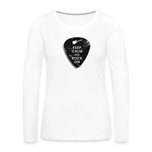 Keep calm and rock on - Women's Premium Long Sleeve T-Shirt