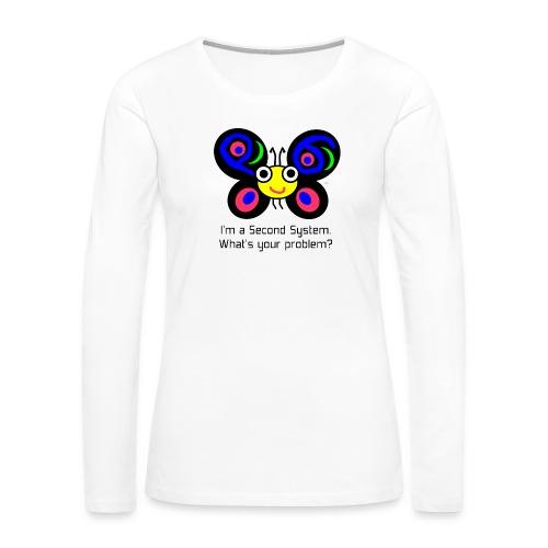 Camelia Second System - Women's Premium Slim Fit Long Sleeve T-Shirt