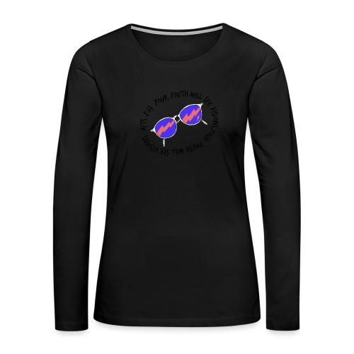 oie_transparent_-1- - Women's Premium Slim Fit Long Sleeve T-Shirt