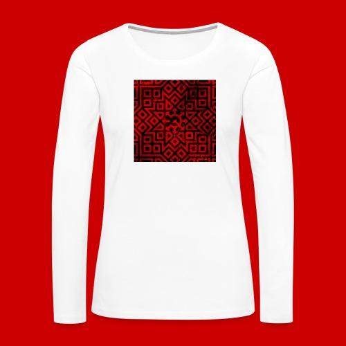 Detailed Chaos Communism Button - Women's Premium Slim Fit Long Sleeve T-Shirt