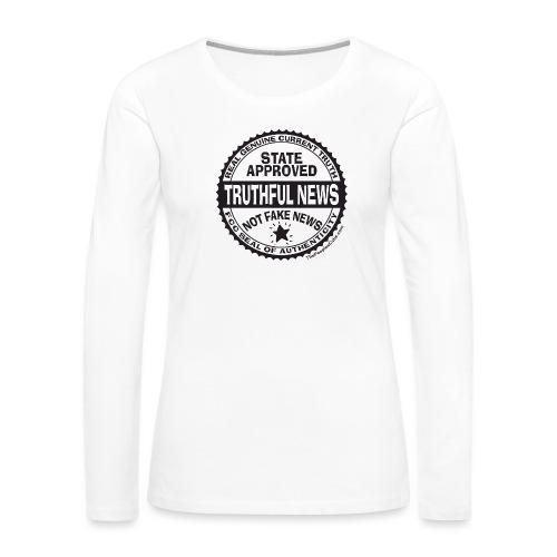 Truthful News FCC Seal - Women's Premium Slim Fit Long Sleeve T-Shirt