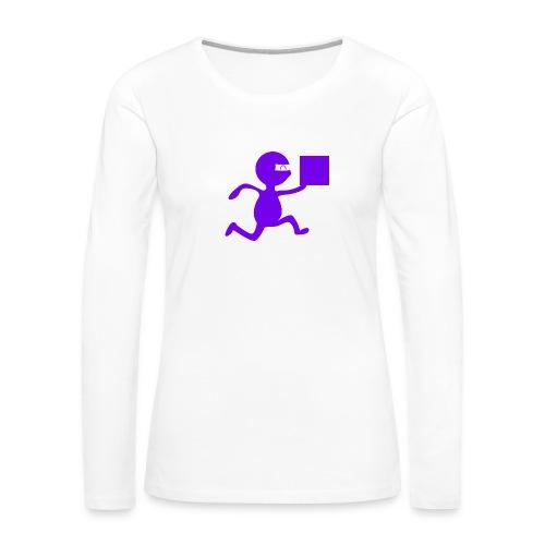 FedEx Ninja - Women's Premium Slim Fit Long Sleeve T-Shirt