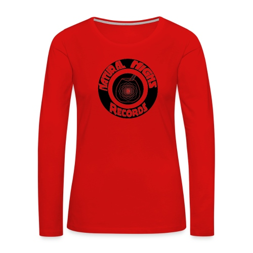 Natural Highs Records - Women's Premium Slim Fit Long Sleeve T-Shirt
