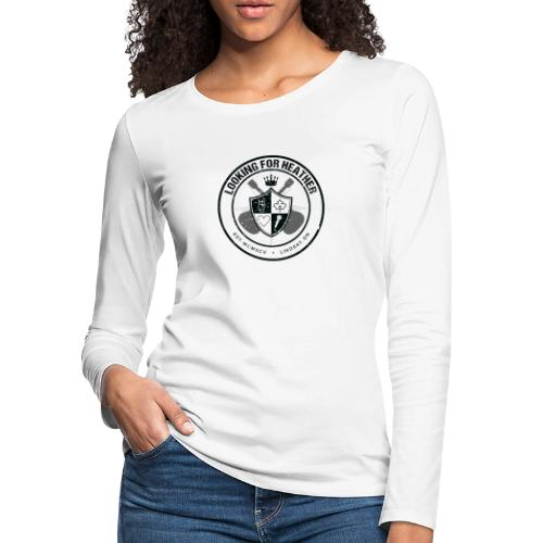 Looking For Heather - Crest Logo - Women's Premium Slim Fit Long Sleeve T-Shirt