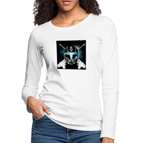 masked guns - Women's Premium Slim Fit Long Sleeve T-Shirt