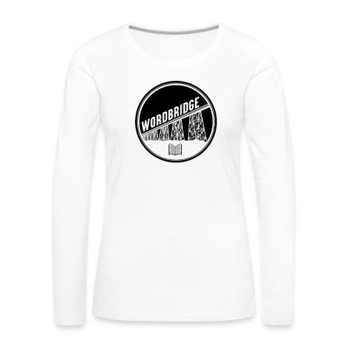 WordBridge Conference Logo - Women's Premium Slim Fit Long Sleeve T-Shirt