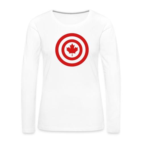 Captain Canada - Women's Premium Slim Fit Long Sleeve T-Shirt