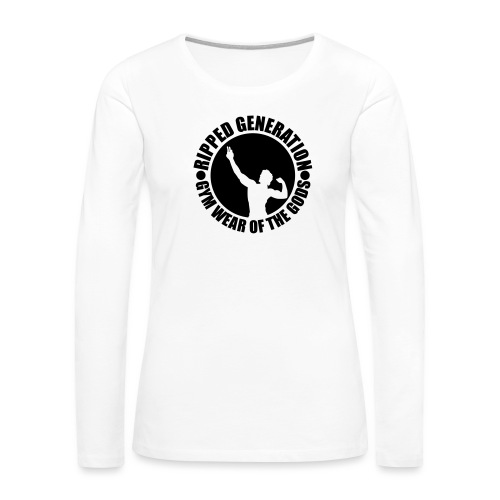 Ripped Generation Gym Wear of the Gods Badge Logo - Women's Premium Long Sleeve T-Shirt
