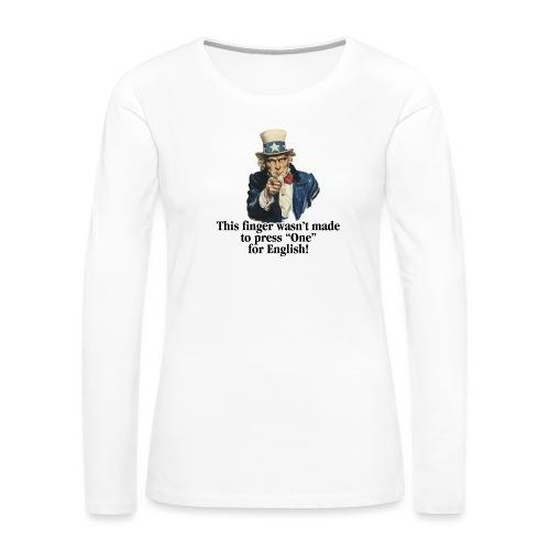 Uncle Sam - Finger - Women's Premium Slim Fit Long Sleeve T-Shirt