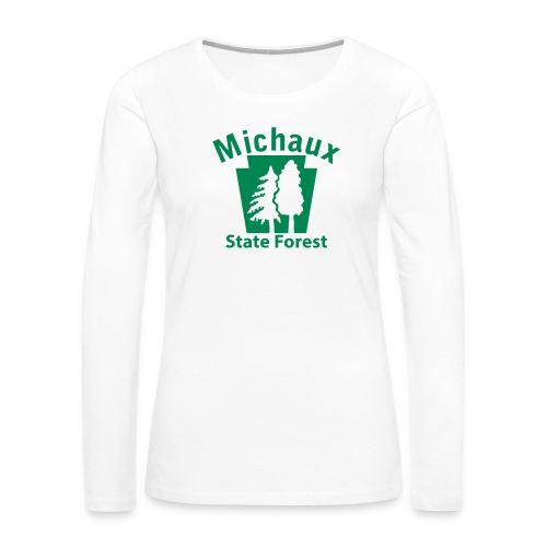 Michaux State Forest Keystone (w/trees) - Women's Premium Slim Fit Long Sleeve T-Shirt