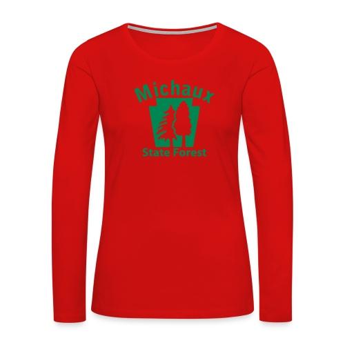 Michaux State Forest Keystone (w/trees) - Women's Premium Slim Fit Long Sleeve T-Shirt