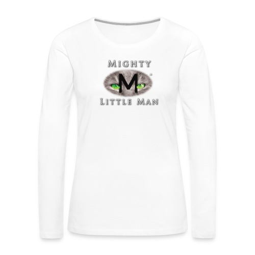 MIGHTY LITTLE MAN Logo - Women's Premium Slim Fit Long Sleeve T-Shirt