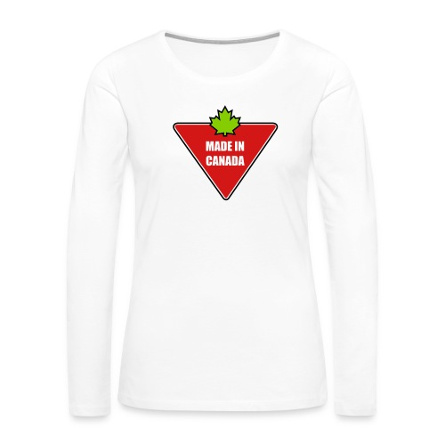 Made in Canada Tire - Women's Premium Slim Fit Long Sleeve T-Shirt