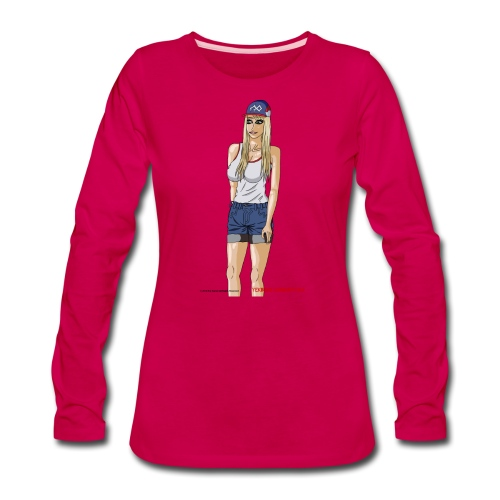 Gina Character Design - Women's Premium Long Sleeve T-Shirt