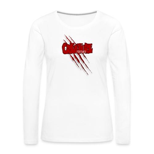 Creature Features Slash T - Women's Premium Slim Fit Long Sleeve T-Shirt