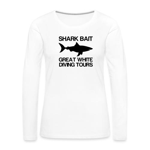 Great White Shark T-Shirt - Women's Premium Slim Fit Long Sleeve T-Shirt