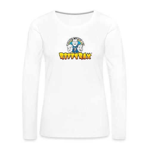 RiffTrax Made Funny By Shirt - Women's Premium Slim Fit Long Sleeve T-Shirt