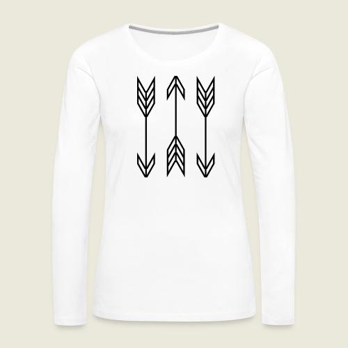 arrow symbols - Women's Premium Long Sleeve T-Shirt