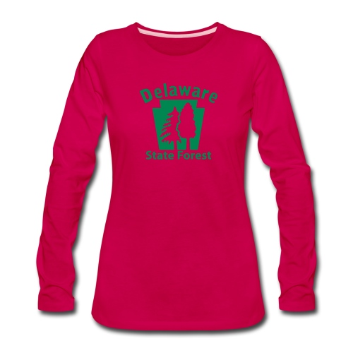 Delaware State Forest Keystone (w/trees) - Women's Premium Long Sleeve T-Shirt