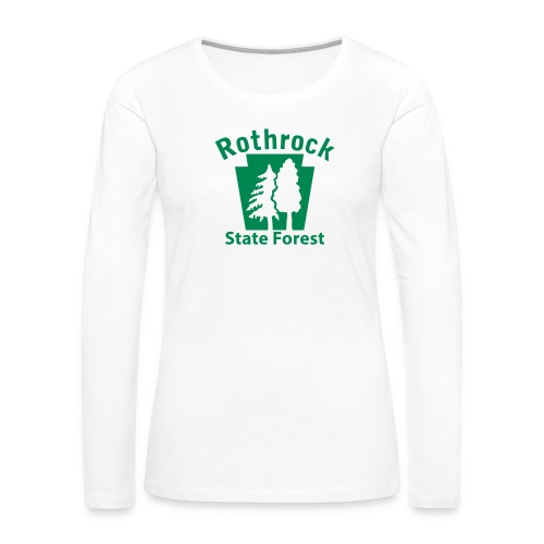 Rothrock State Forest Keystone (w/trees) - Women's Premium Slim Fit Long Sleeve T-Shirt
