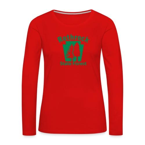 Rothrock State Forest Keystone (w/trees) - Women's Premium Slim Fit Long Sleeve T-Shirt
